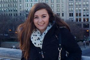 Fourth-year Communication student Samantha Bates in Chicago, Illinois.