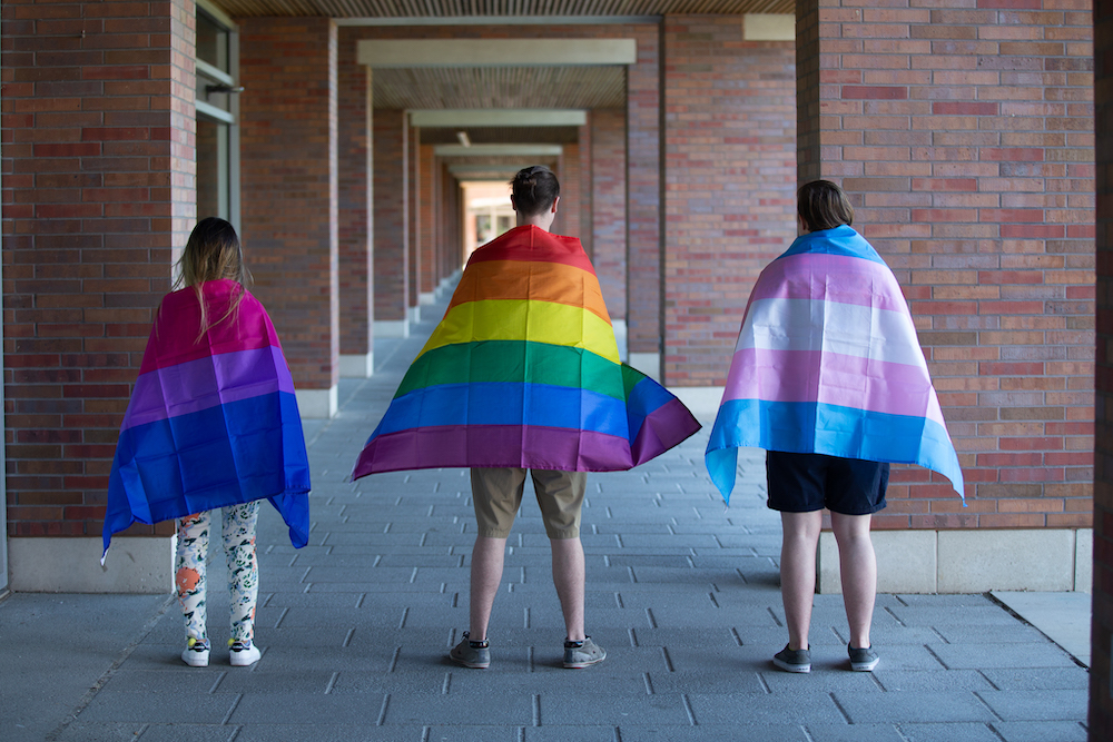 Members of the Ontario Tech community celebrating Pride in 2019