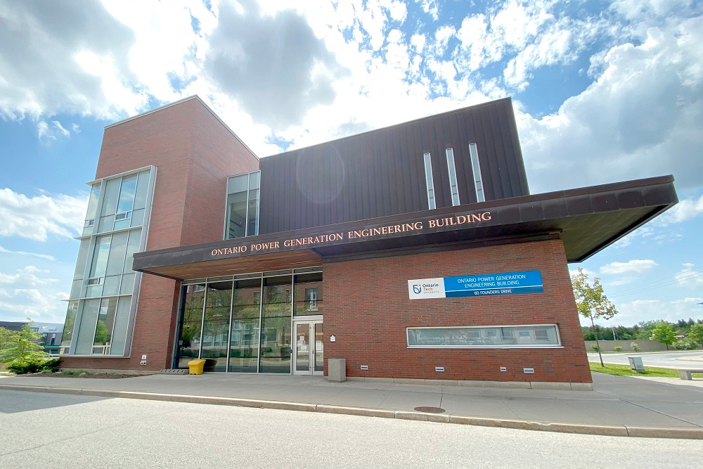 Ontario Power Generation Engineering Building at Ontario Tech University's north Oshawa location.