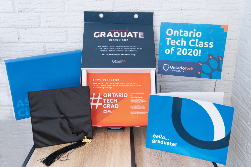 Specially designed grad boxes were shipped to the class of 2020.