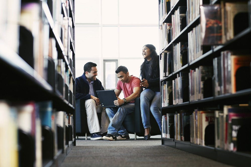 Students in Campus Library