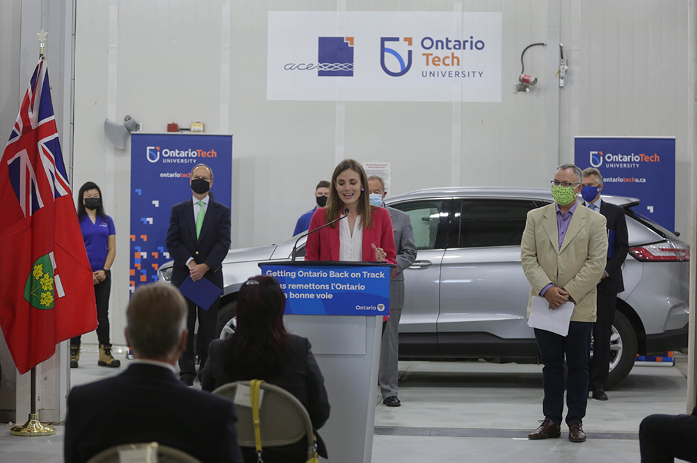 On September 25, 2020, the Province of Ontario announced the Career Ready Fund at Ontario Tech University's ACE.