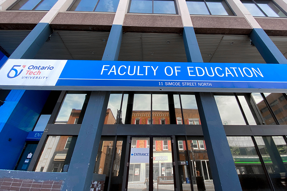 Faculty of Education Building at Ontario Tech University's downtown Oshawa location.