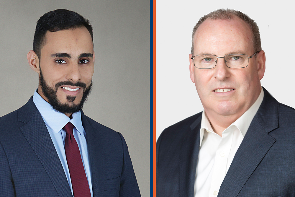 From left: Azzam Abu-Rayash and Douglas Ellis are the two most-recent appointees to the Board of Governors at Ontario Tech University.