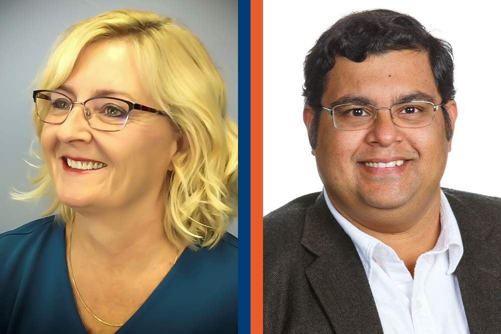 Ontario Tech University researchers Dr. Janette Hughes (left) and Dr. Sheldon Williamson will serve a second five-year term as Canada Research Chairs.