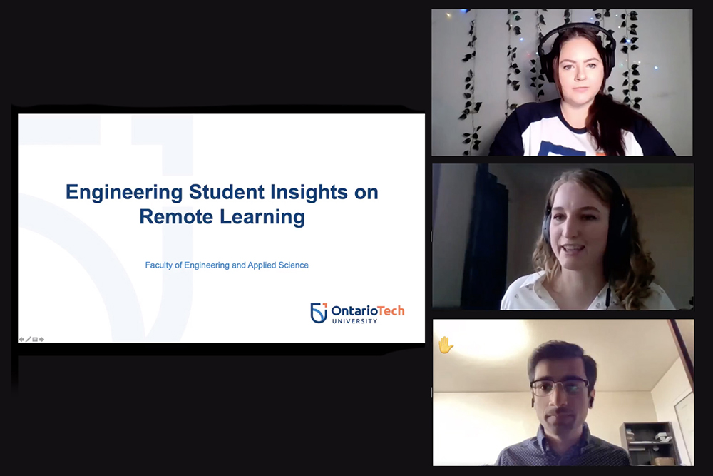 Faculty of Engineering and Applied Science students took part in the Student Insights on Remote Learning Experience webinar in February 2021.