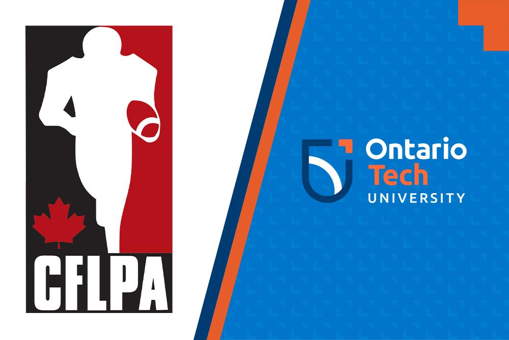 image of CFLPA and Ontario Tech logos