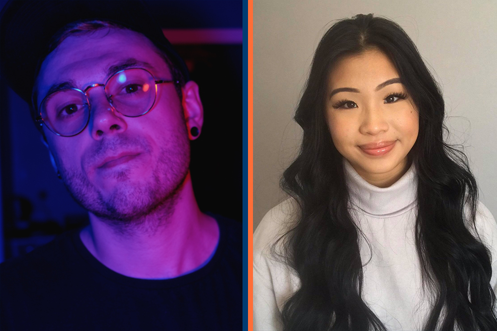 From left: Ontario Tech University students Rob Savaglio and Jessica Le took home first place in their categories at this year's Ubisoft Toronto NEXT competition.