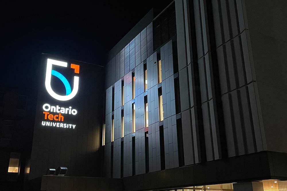 Shawenjigewining Hall at Ontario Tech University's north Oshawa location.